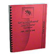 REP1811 - International 200, 230, 240 Parts Manual Reprint