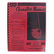 REP2083 - M & W Hand Clutch Reprint Operators Manual & Parts List