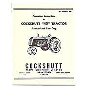 REP2973 - Operators Manual Reprint: Cockshutt 40