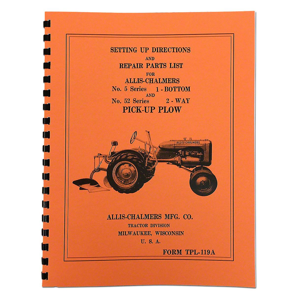 Moldboard Plow Setting Up & Repair Manual REP3499