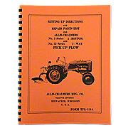 REP3499 - Allis Chalmers Moldboard Plow Setting Up & Repair Parts Manual