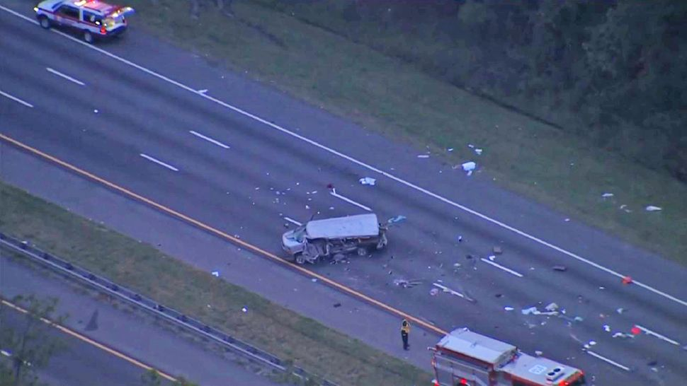 "Sgt. Thomas Dillion of the Florida Highway Safety and Motor Vehicles confirmed that the passenger van involved in the crash was a church van ""that was en route from Louisiana to Orlando."" (Sky 13)"