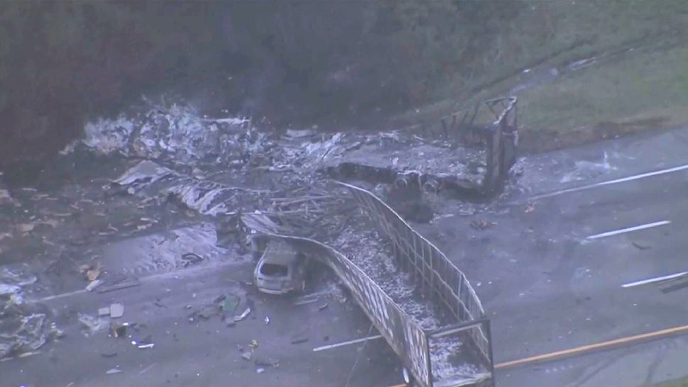 The deadly crash also involved 2 semitractor trailers and 1 midsize sedan. (Sky 13)
