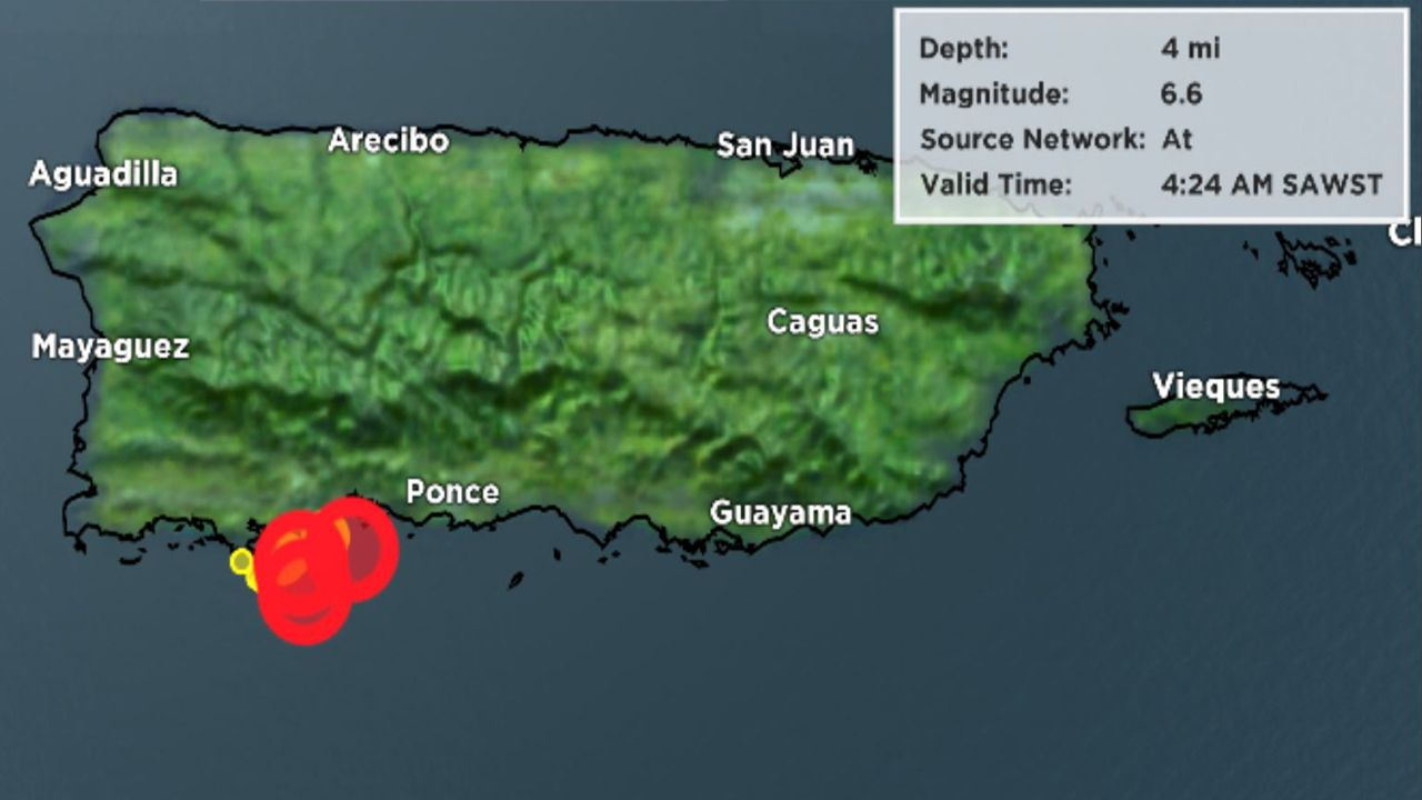 There have been a series of quakes on the island in the last two weeks.