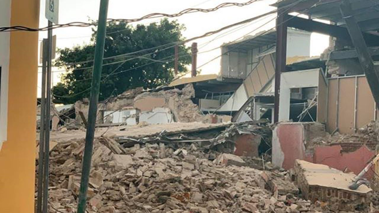Damage, like that of the Guayanilla Catholic Church, can be seen in the town of Guayanilla after a powerful earthquake struck Puerto Rico on Tuesday, January 7, 2020. (Photo courtesy of the family and friends of Belisa Rivera Negron)