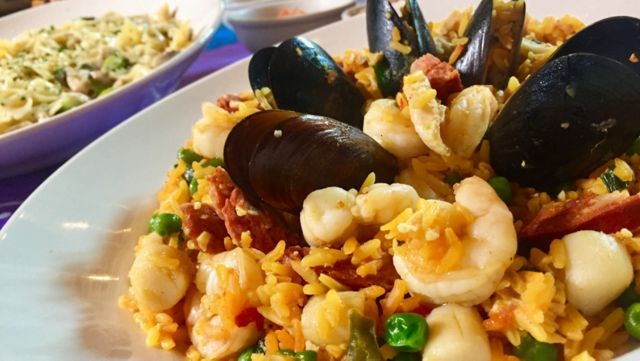 Chef's Kitchen: Escape to Islands With Bahama Breeze's Seafood Paella