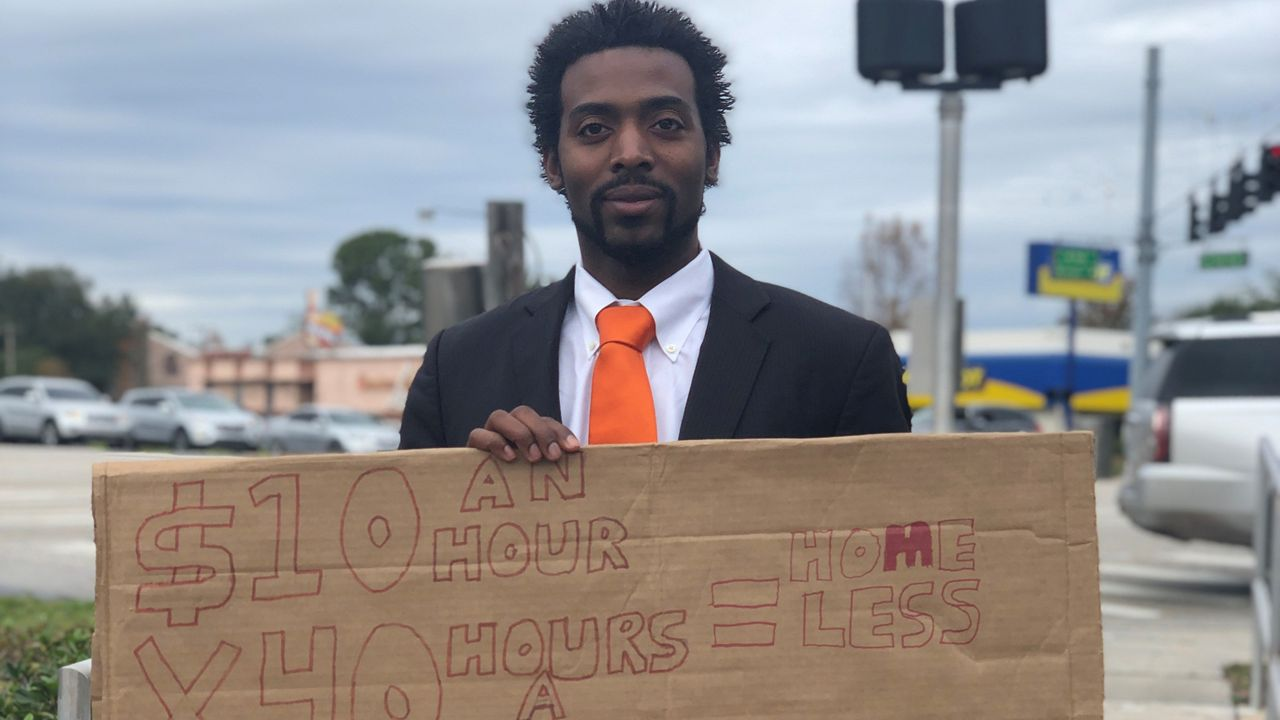 Florida Man Panhandles for Job on US-192