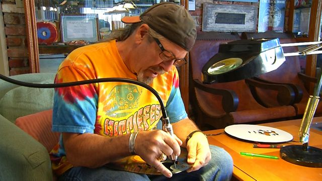 Lakeland Man Turns Old Records Into Unique Form of Art