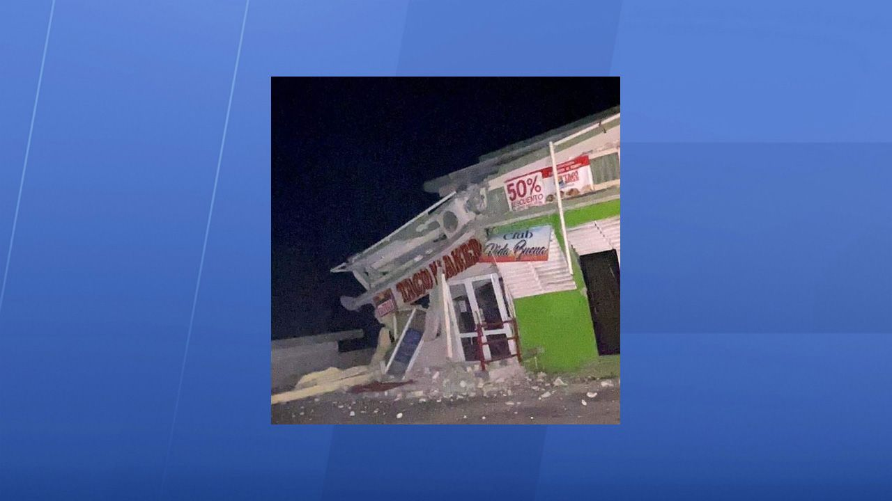 The restaurant Taco Maker in Guanica suffered great damage after an earthquake struck Puerto Rico on Tuesday, January 7, 2020. (Photo courtesy of the family and friends of Felix J. Quirindongo Muniz)