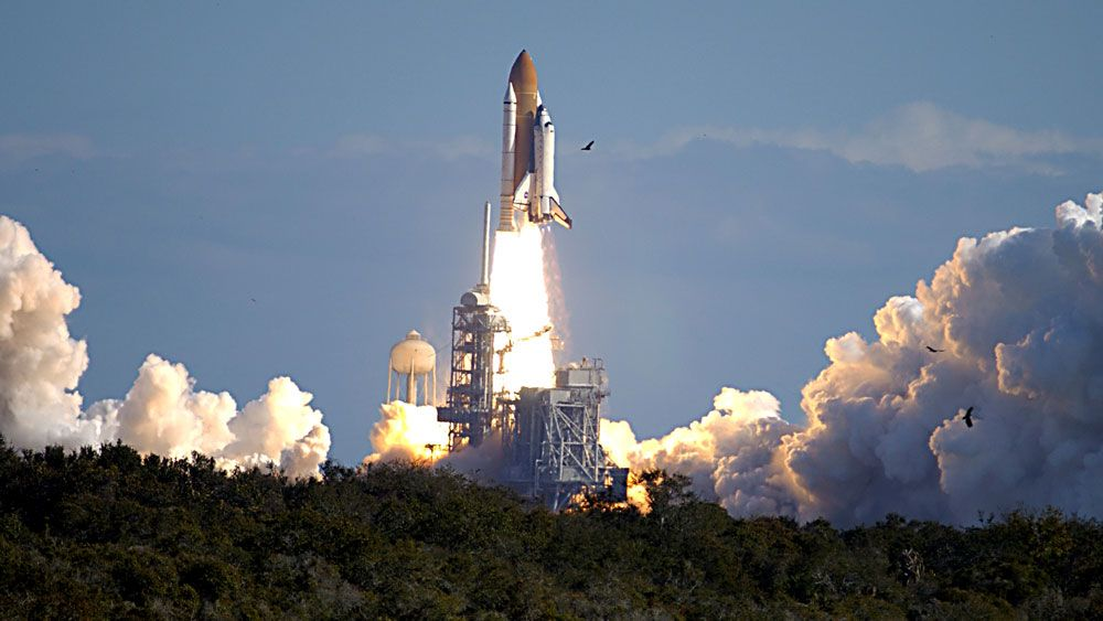 Space Shuttle Columbia launches on January 16, 2003 for a mission of scientific research. (NASA)