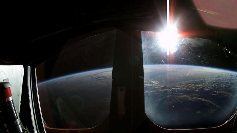 Sunrise over Earth, as taken from Space Shuttle Columbia on its final mission. (NASA)