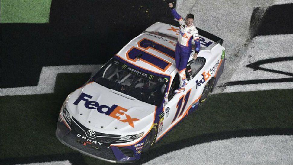 Denny Hamlin Wins Crash Filled Daytona 500