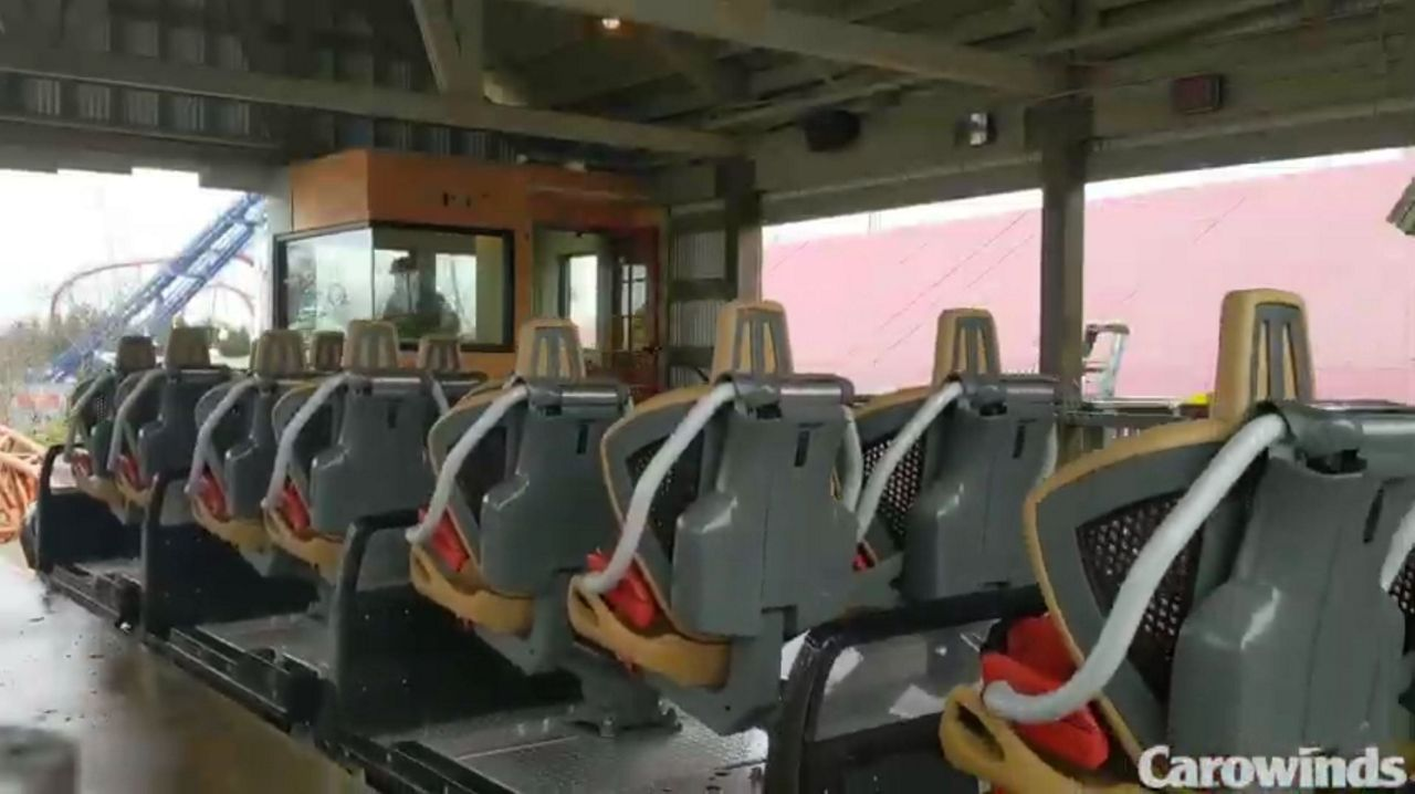 New Ride at Carowinds Rolls Out