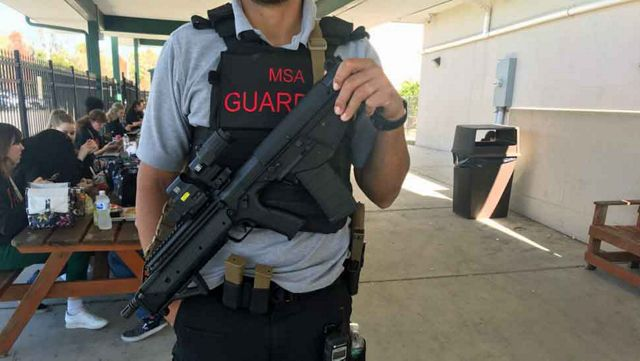 School Guardians Carrying Semiautomatic Rifles at Manatee Arts High School