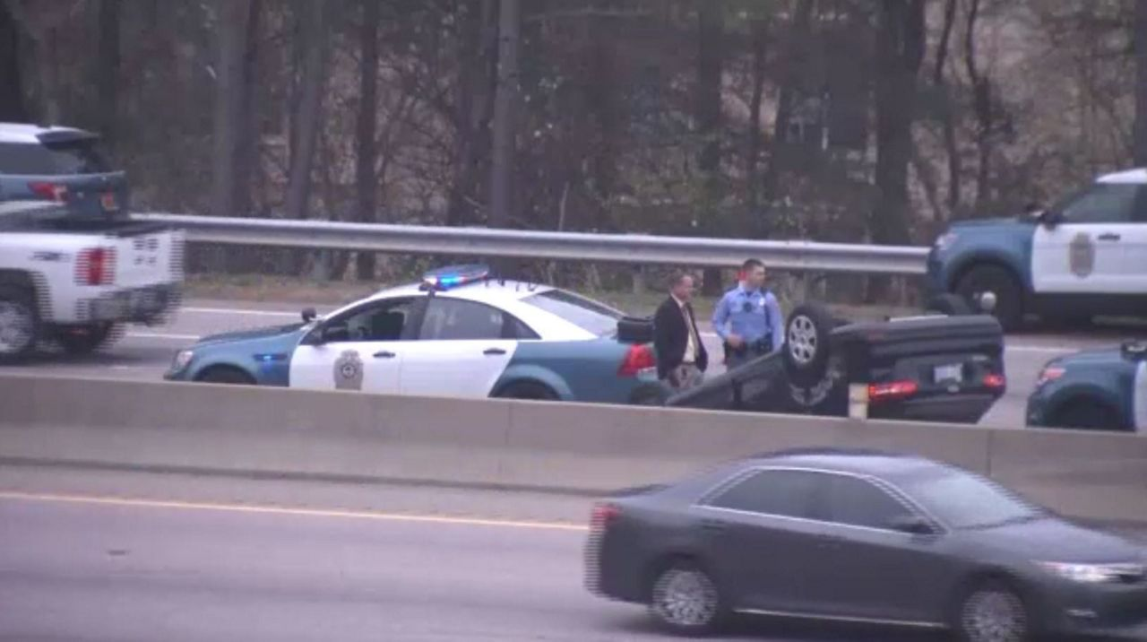 Armed Robbery Suspect Crashes into Another Car on I-440