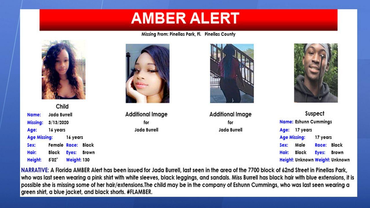 Pinellas Park Teen In Florida Amber Alert Found Safe