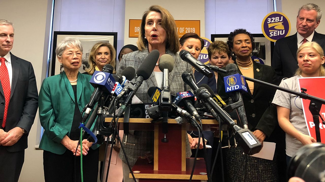 Nancy Pelosi Joins De Blasio at Rally for Immigration Reform