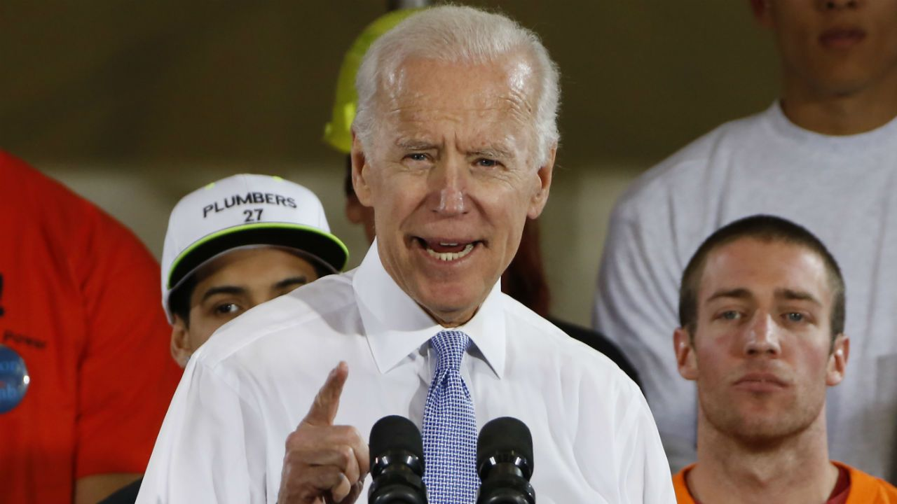 Two suspicious packages were intercepted that were addressed to former Vice President Joe Biden, according to investigators and the Associated Press. (File photo)