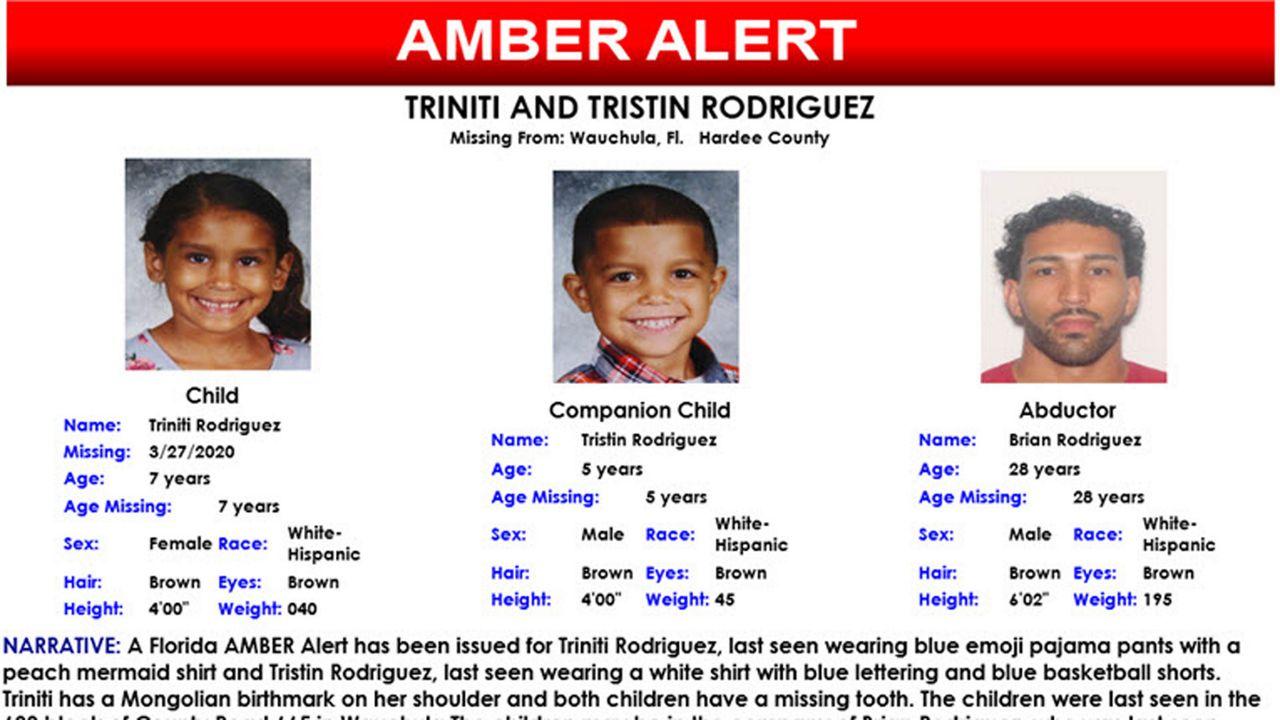 Florida Amber Alert For Missing Boy Girl Canceled