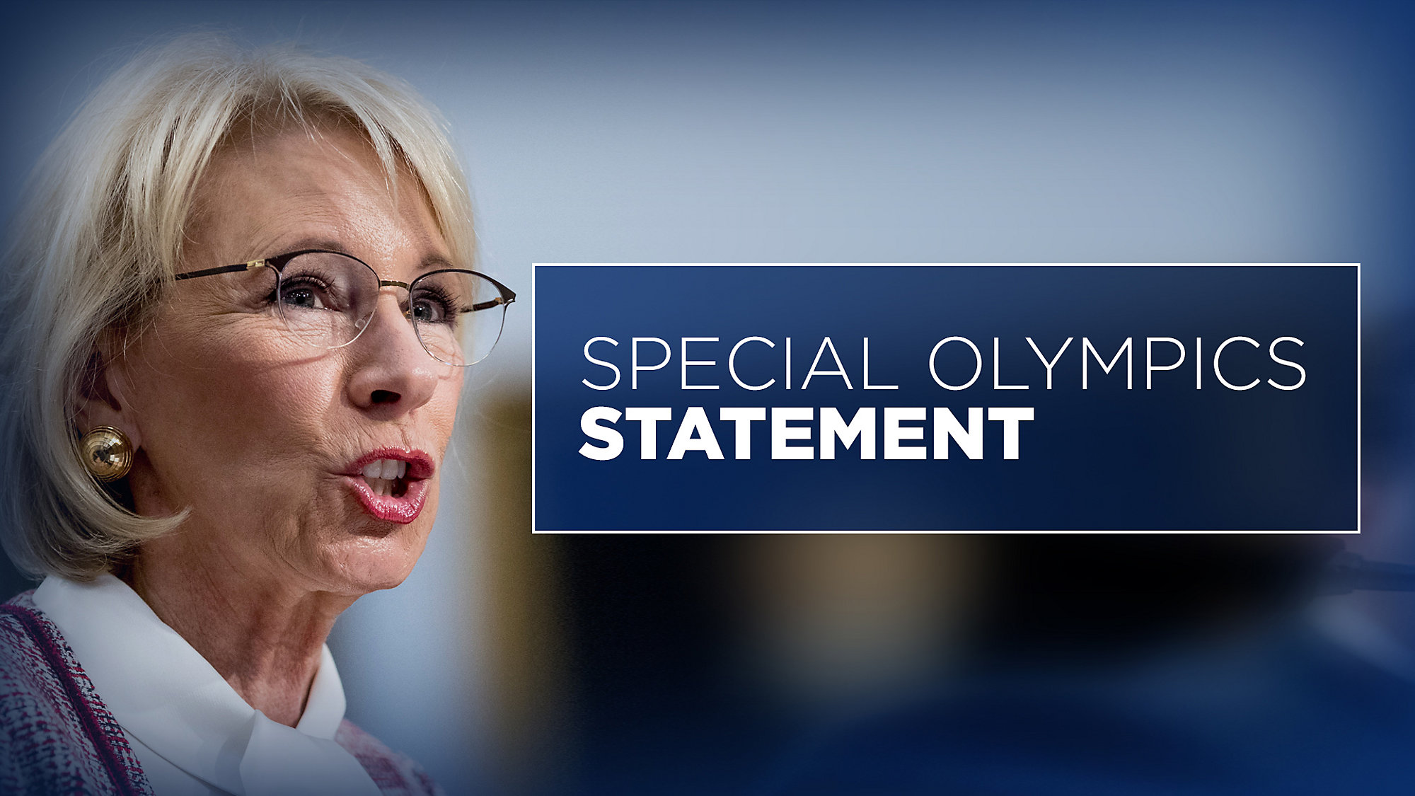 Congress Rejects Much Of Betsy Devoss >> Tampa Special Olympics Athlete Says No To Proposed Cuts