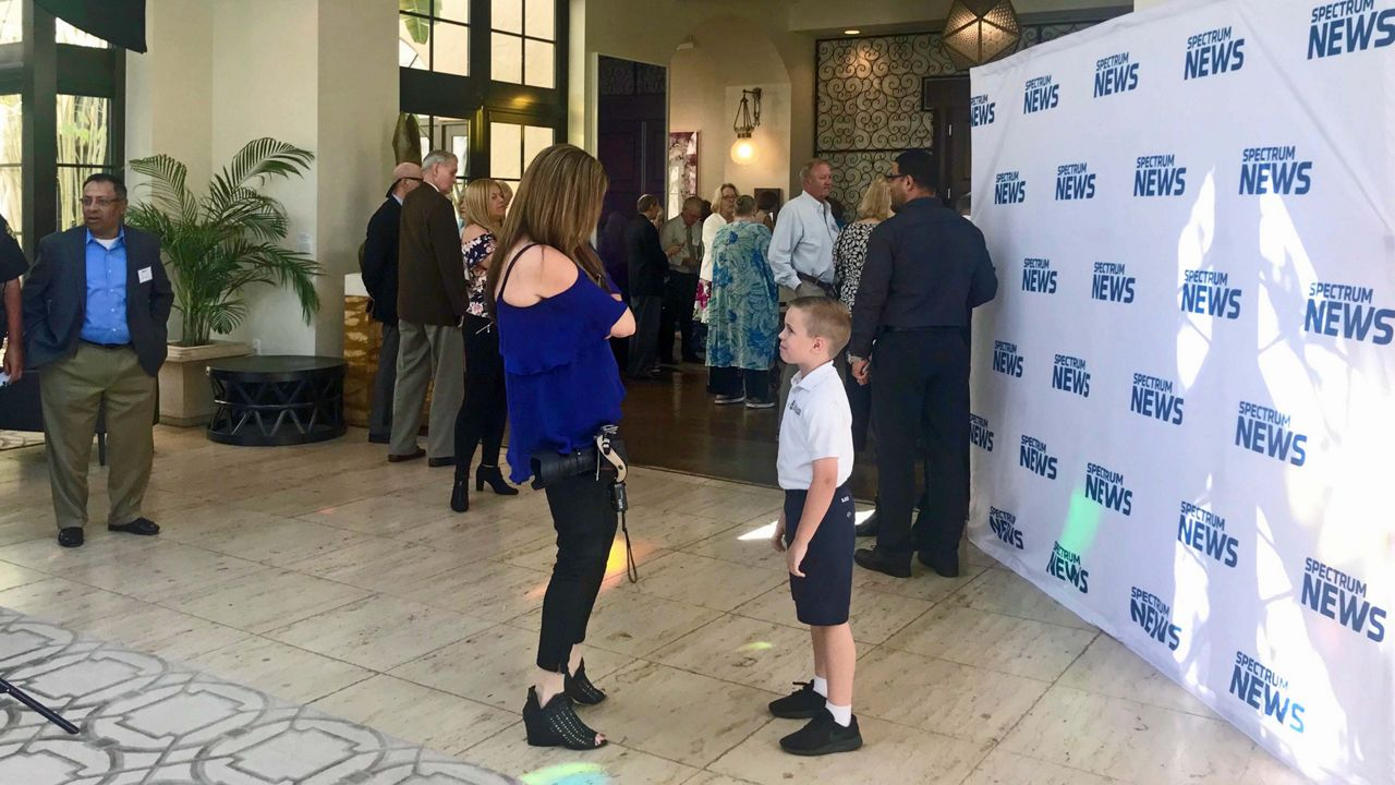 Our Everyday Heroes of 2018 joined us at the Alfond Inn in Winter Park for our annual 'Salute to Everyday Heroes' luncheon. Our photographer got to take a photo of our young hero Matthew Neve.