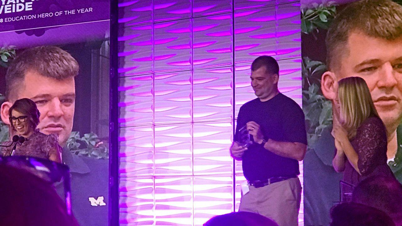 Spectrum News 13's Everyday Hero Ryan Vander Weide won our 'Education Hero of the Year' award.
