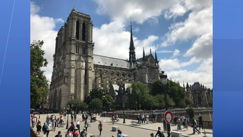 Notre Dame cathedral is a major tourist attraction in the heart of Paris. It's still used as a church. (Kate Fox/Spectrum News)