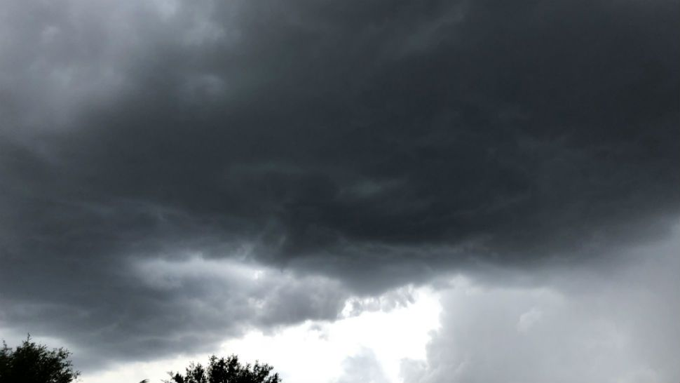 Sent via Spectrum News 13 app: Thunder and lightning in Clermont Sunday. (Heather Russell, Viewer)