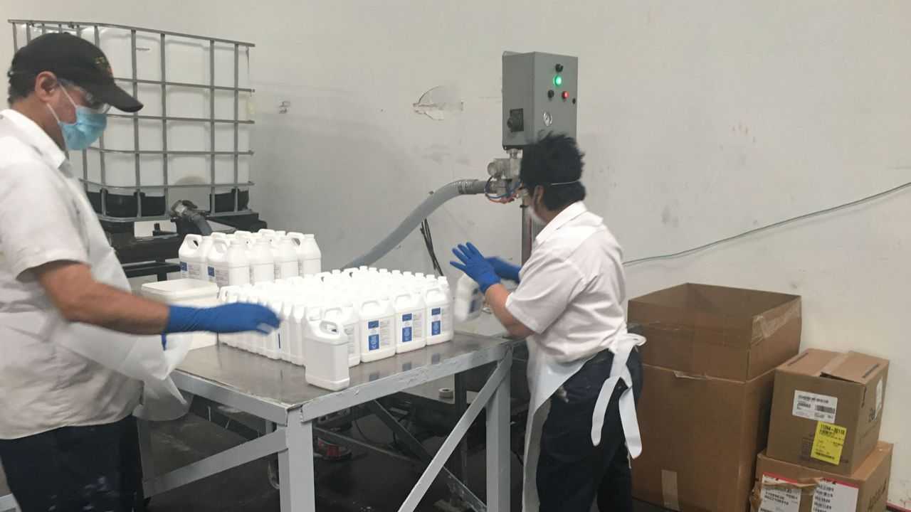 Tampa Paint Company Making, Selling Hand Sanitizer