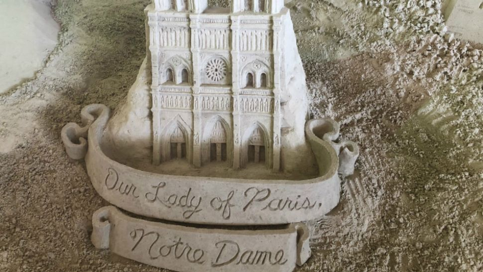 Sugar Sand Festival Organizers Create Notre Dame Cathedral Display