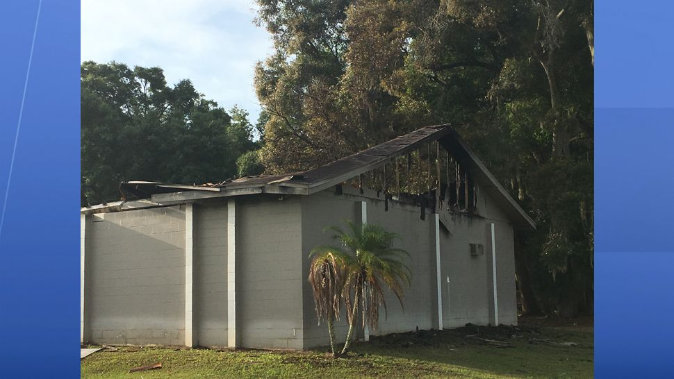 The fire didn't destroy the church sanctuary but the Fellowship Hall sustained damage. (Dalia Dangerfield/Spectrum Bay News 9)