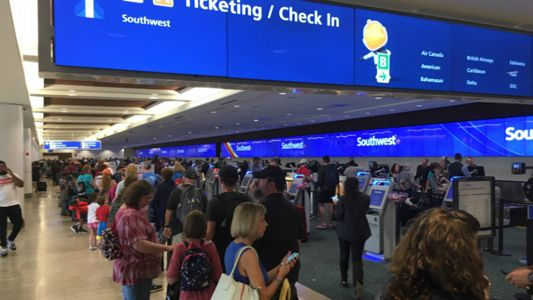 Orlando Area Severe Weather Storms Halt Airport Flights