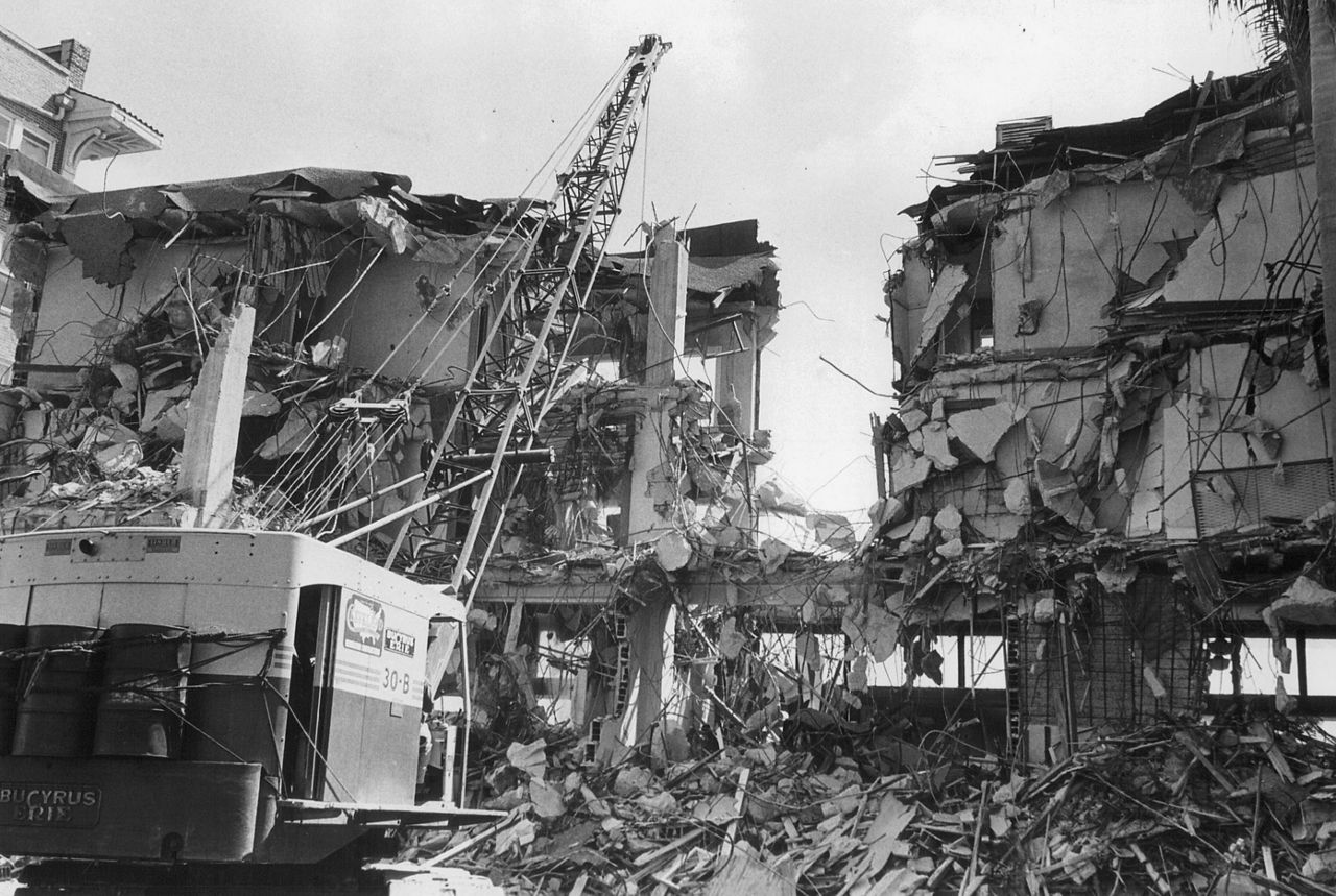 Homes and businesses in Ybor City were demolished in the once thriving cigar industry town. (Courtesy Tampa Bay Times)