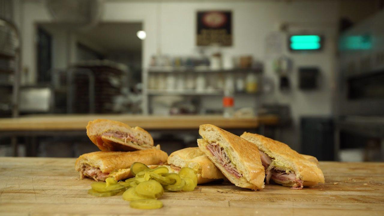 Cuban sandwich from La Segunda Central.