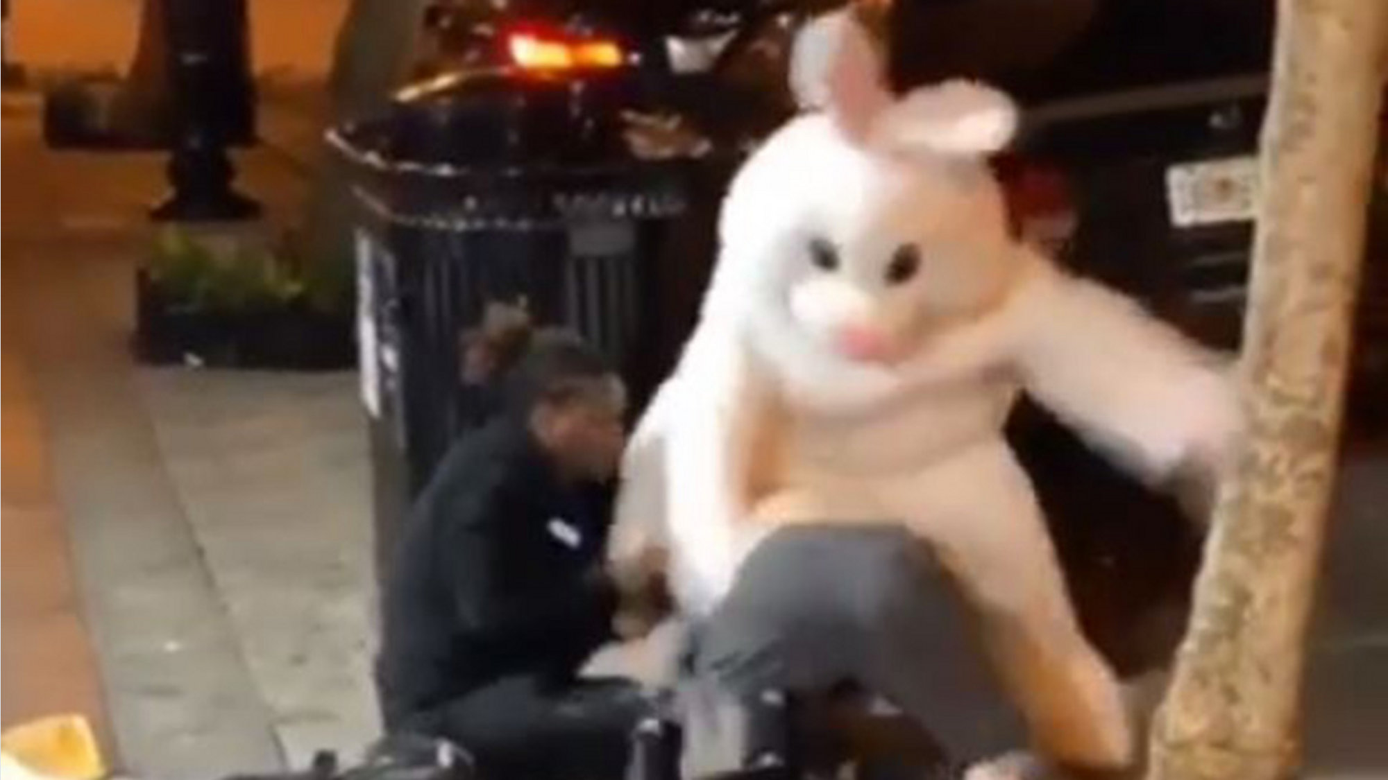 Easter Bunny in downtown Orlando fight video explains why he threw punches
