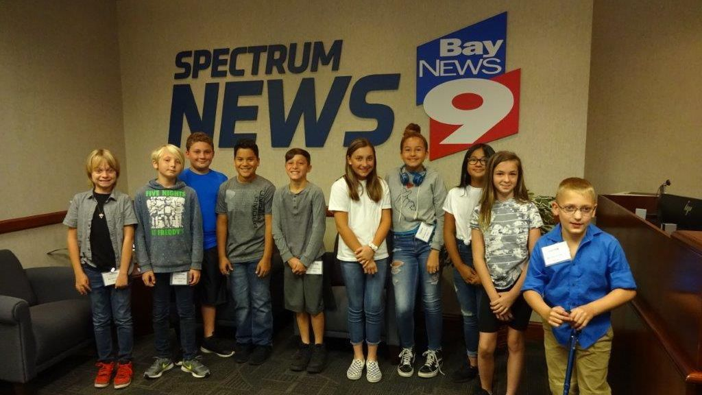 Dr. Mary Giella Elementary School in Spring Hill visited the Bay News 9 studio on April 23, 2019.