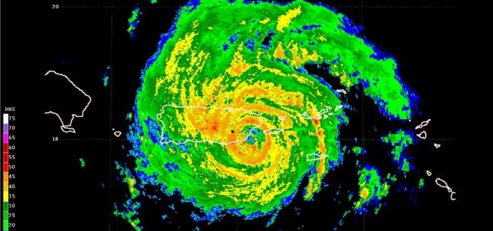 Last image from the radar before it was destroyed as Maria made landfall