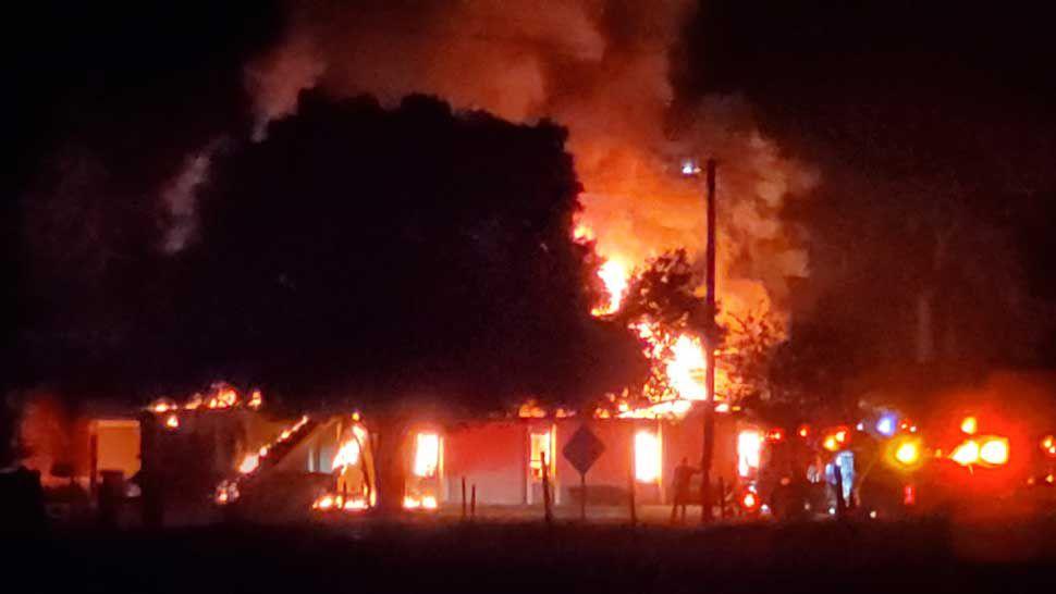 Hillsborough Fire Rescue Fighting Fire at Brandon Church
