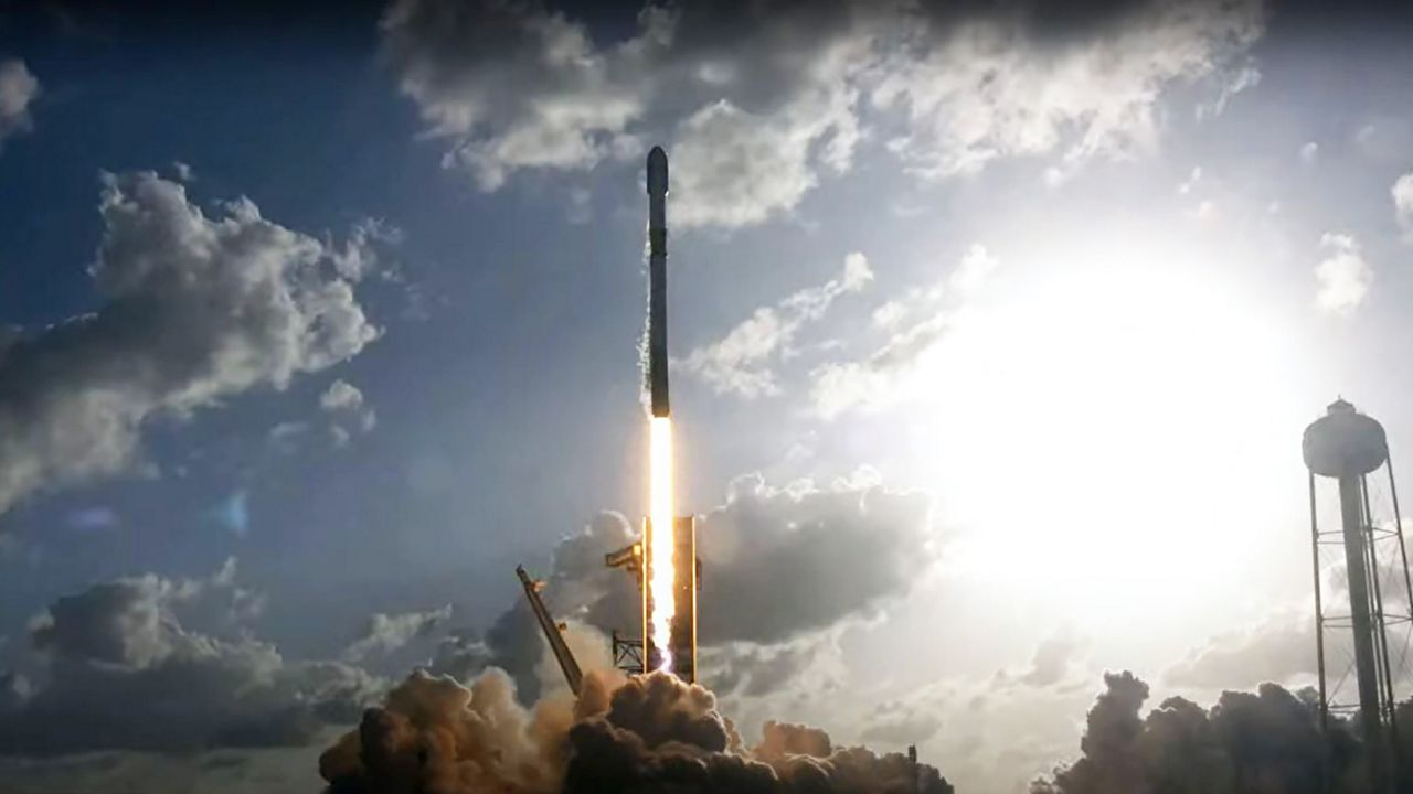 SpaceX launches Falcon 9 rocket from Kennedy Space Center