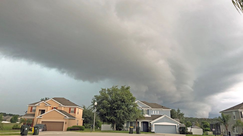 Dark storm clouds were seen rolling over Clermont on Thursday, May 17, 2018. (Heather Russell, viewer)