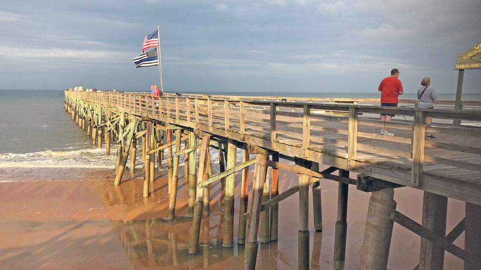 Sent to us via the Spectrum News 13 app: The sun was shining on Flagler Pier after a storm on Tuesday, May 22, 2018. (Steve M., viewer)