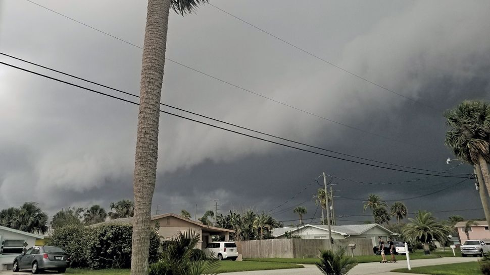 Submitted via Spectrum News 13 app: Dark clouds were seen over Daytona Beach Shores on Monday, May 28, 2018. (Ross Glabis, viewer)