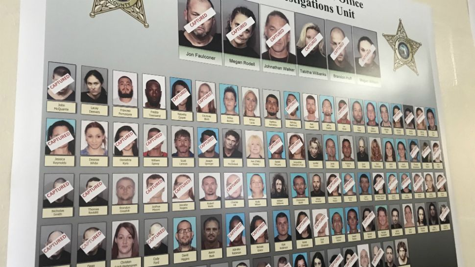 More than 50 people have been arrested and charged in connection to a massive opioid-trafficking investigation in Brevard County, Sheriff Wayne Ivey said Wednesday. The charges range from drug trafficking to racketeering. (Greg Pallone/Spectrum News 13)