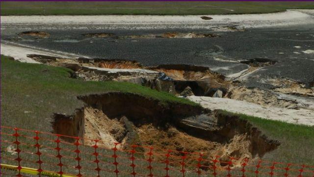 sinkholes drain ocala retention pond as tests continue