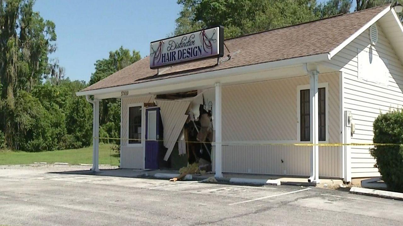 Dade City Salon Damaged In Hit And Run Crash