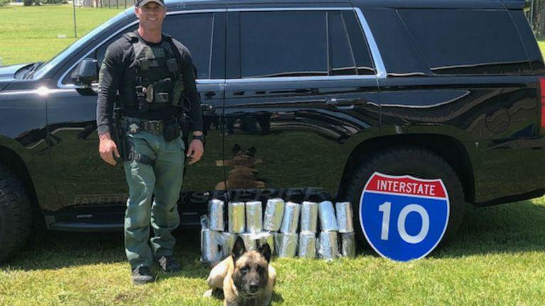 Fayette County Sheriff's Office K9 Lobos finds $2.7 million worth of meth hidden in the gas tank of a car. (Courtesy: Fayette County Sheriff's Office)