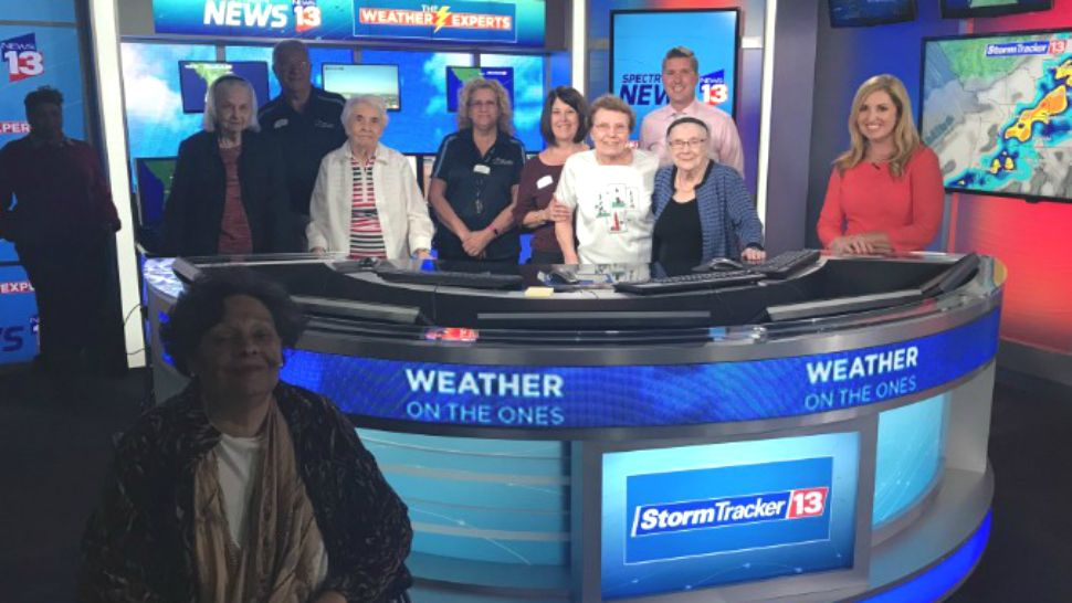 Residents of Encore at Avalon Park visit the Spectrum News 13 studios on Tuesday, March 6, 2018.