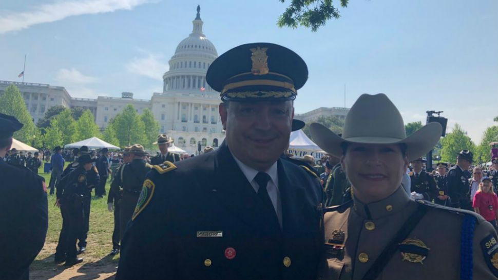 Williamson County deputies running into former Austin Police Chief and current Houston Police Chief Art Acevedo at the Peace Officers Memorial in Washington D.C. on May 15, 2018.