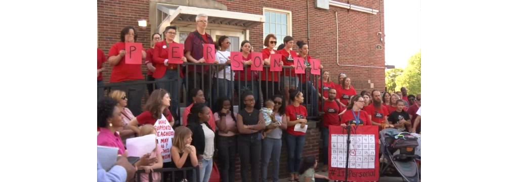 Event Held In Charlotte To Support Raleigh Teacher Rally