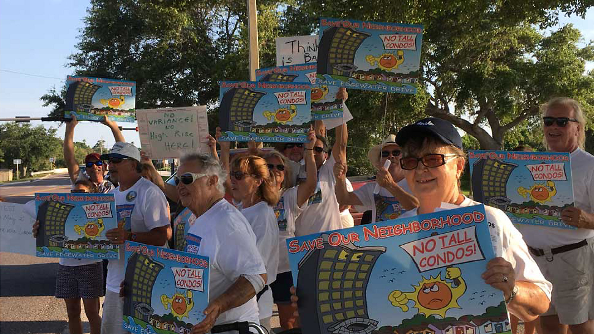 Residents Protest Proposed